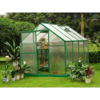 China 6mm Twin-wall Small Polycarbonate Sheet Greenhouse Sturdy Aluminum Framing 6' X 8' RE0608 on sale