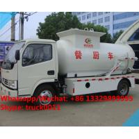 factory sale best price dongfeng 120HP 4tons side lifting bins food garbage truck,6m3 wastes food collecting vehicle Manufactures
