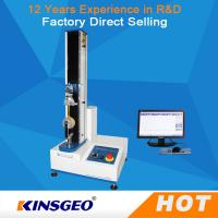 0ne Year Warranty Single Column Computerized Universal Testing Machines 5KN With Metal / Rubber Manufactures