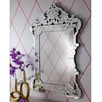 Popular Venetian Wall Mirror MDF Black Paint 77 * 2 * 120cm H Size Manufactures