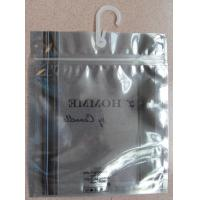 Antistatic Underwear Packaging Resealable Zip Lock Plastic Bag with Hook Manufactures