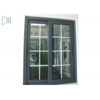 Grille Design Aluminium Sliding Windows Corner Joint System / Medium Level Window System Manufactures