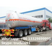 Customized cheap price 56,000L 14560 gallon 23ton bulk lpg gas trailer for sale, bulk propane gas trailer  for sale Manufactures