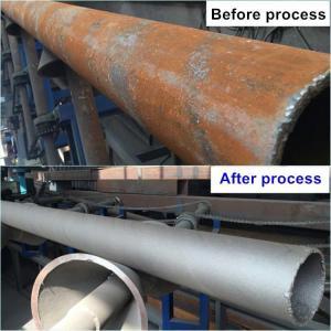 76m/S SPMn13 4x250 Kg/Min Steel Pipe Shot Blasting Machine Manufactures