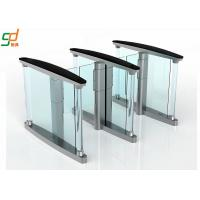 Glass Wing Barrier Automatic Turnstiles Controlled Access Servo Driver Manufactures