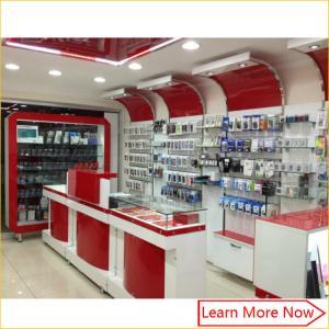 Quality mobile phone shop interior design,mobile phone shop decoration,furniture design for mobile shop for sale