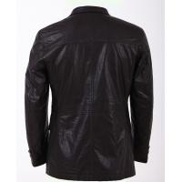 Custom Western Luxury, Two side pockets Black Fashionable Mens Leather Blazers Manufactures