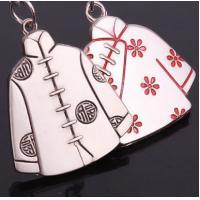 Valentine lovers clothes zinc alloy couple keychain Manufactures