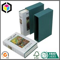 Book Shape Paper Board Slip Case Gift Box with Custom CMYK Full Color Offset Print Manufactures