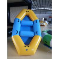4 gas chamber yellow and blue 0.9mmPVC  tarpaulin inflatable boat 2.7 m long 1.5 m wide custom size Manufactures