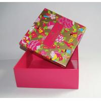 Buy cheap Custom Printed Rigid Cardboard Clothes Packing Paper Box from wholesalers