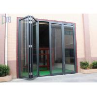 Commerical Building Aluminium Folding Doors Energy Saving With Double Glazing Glass Manufactures