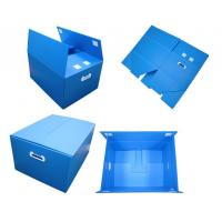 Blue Non - Toxic Folding Plastic Corrugated Plastic Boxes With Thickeness 2-6mm Manufactures