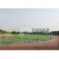 China Vivid Color Artificial Grass Projects / Fake Turf Grass With Logo Customization on sale