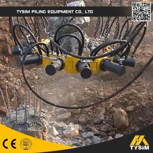 High Efficiency Hydraulic Pile Breaker , 300mm - 1050mm Diameter Manufactures