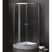 Quality 800 X 800 Quadrant Shower Enclosures And Tray With Magnetic Stripes Ss Sliding Handle for sale