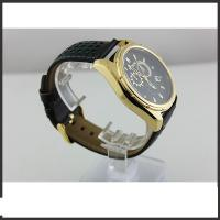 Durable Big Dial Mens Leather Belt Watches For Sports Auto Date Mineral Glass Material Manufactures