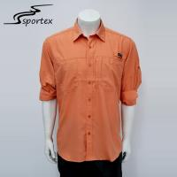 Plus Size Fishing Casual Outdoor Clothing Fast Drying Shirts Orange Color Manufactures