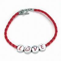 Bracelet with Zinc Alloy Charms, OEM Orders are Welcome, Suitable for Promotional Gifts Manufactures