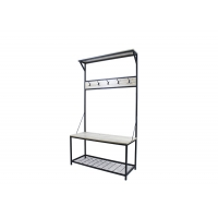 60KG 180cm Height Coat Rack With Shoe Bench With Metal Legs Manufactures