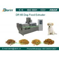 DR65 Automatic Stainless Steel  Dog Food Extruing Machine / Dry Pet Food Processing Line
