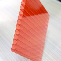 Quality Red Color Two Wall 4mm Polycarbonate Greenhouse Panels OEM / ODM Acceptable for sale