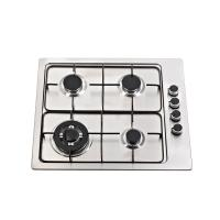 Built In Stainless Steel Gas Hob 4 Burner With High Level Enamel Pan Support Manufactures