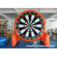 China Customized Size Inflatable Sport Games , Airtight Giant Inflatable Foot Darts on sale