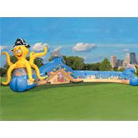 Colorful Inflatable Sports Games Tunnel , Fun Inflatables Obstacle Course Games For Kids Manufactures