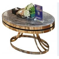 stone top Brass  stainless steel metal side table/End table/coffee table/C table, hotel furniture,casegoodsTA-0087 Manufactures
