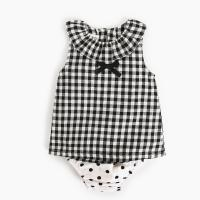 China Girl 2 Piece Newborn Clothes Set / Ruffle Cotton Baby Clothes Single Dress on sale