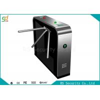 High Security Heavy Duty Waist Height Turnstile Black Shape IR Sensor Barrier Manufactures
