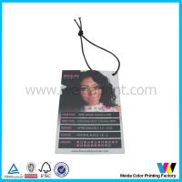 C2S Matt Surface Printable Paper Tags with black elastic cord for hair extensions packaging Manufactures