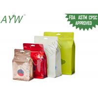 Quality Glossy / Matte Reclosable Flat Bottom Plastic Bags With Transparent Tea Pot Window for sale