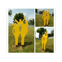 Modern Metal Outdoor Sculptures / Large Abstract Metal Sculpture 150cm Height Manufactures