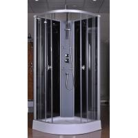Quality Circle Grey Quadrant Shower Cubicles 900 X 900 X 2250 MM ABS Tray Chrome Profiles for sale