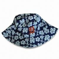 Men's Bucket Hat with Printing, Suitable for Promotional Purposes, Made of 100% Cotton Manufactures