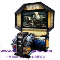 China 55''LCD crazy game ghost squad,amazing simulator gun shooting machine on sale