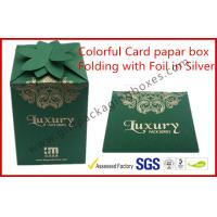 Fashion Green Card Board Packaging Box Rectangle for supermarket Manufactures