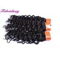 Double Drawn Natural Virgin Indian Hair / Italian Weave Hair Extensions Manufactures