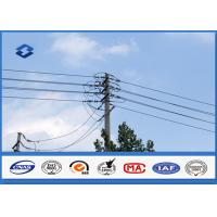 Overhead Transmission Line Steel Utility Pole with Hot dip Galvanization Manufactures