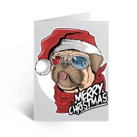 Cute 3D Lenticular Greeting Cards For Christmas Holiday Water Resistant Manufactures