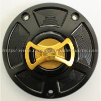 Quality Aluminum Motorcycle Gas Caps / Replacement Fuel Cap Cover For Kawasaki Ninja 650R ER6n Versys for sale