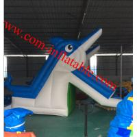large inflatable dolphins water slide pool inflatable water slide for kids and adults Manufactures
