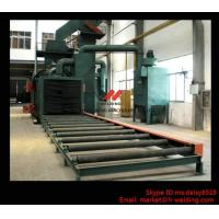 Steel Plate / H Beam Shot Blasting Machine For Cleaning And Blasting Before Sanding and Painting Manufactures