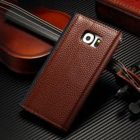 Envelope Style Samsung S6 Leather Wallet Case , Leather Folio Phone Case For Business Manufactures