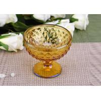 Yellow Stemware popular wedding glass candle holders Bowl Shape Manufactures