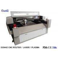 Metal / Fabric Laser Cutting Machine , Industrial CNC Fabric Cutter With Alarm Light Manufactures