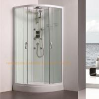 Quality 800 x 800mm quadrant shower enclosure sliding shower glass door with back jets for sale