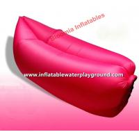 Durable Red Inflatable Sleeping Bag / Air Chair For Relaxing Water Resistant Manufactures